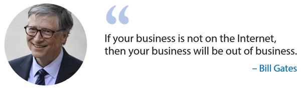 سخن بیل گیتس درمورد کسب و کار اینترنتی
