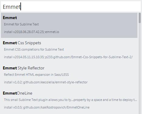 نصب افزونه Emmet در SublimeText