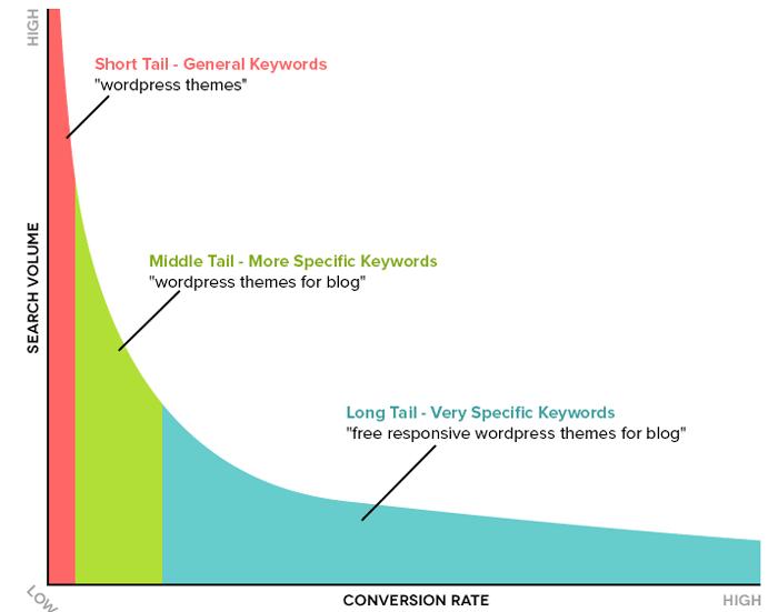 انواع کلمات کلیدی و نرخ تبدیل آنها در سئو