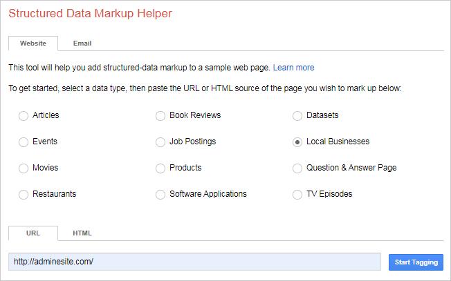 markupکردن local business با گوگل