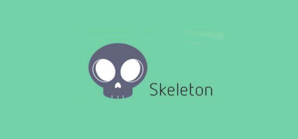 skeleton logo از بهترین فریمورکهای CSS