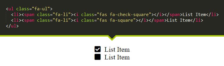 مثال چهارم Font Awesome 5