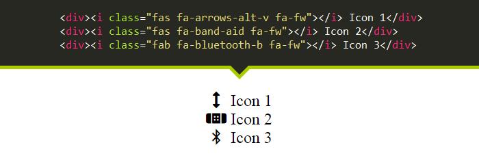 مثال هفتم Font Awesome 5