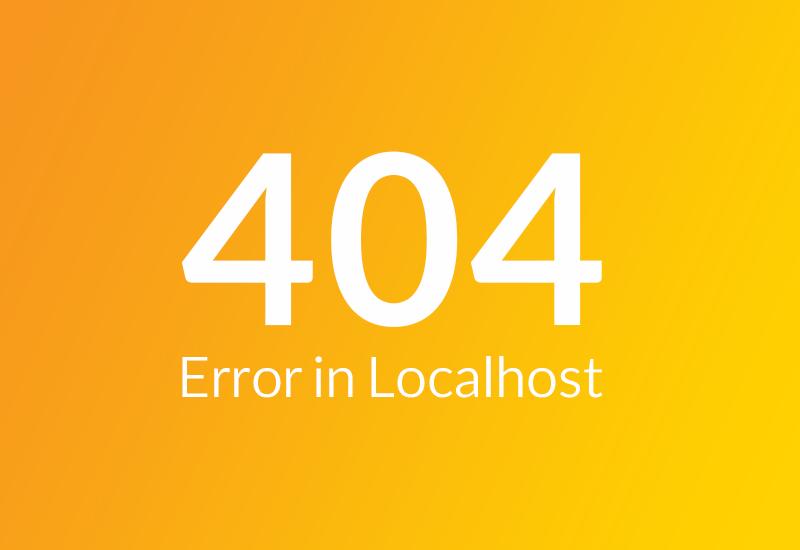رفع خطای 404 پیوند یکتا در لوکال هاست