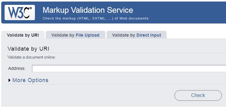 تصویر وبسایت سرویس W3C Markup Validation
