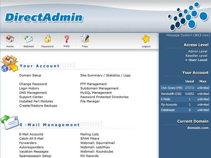 معرفی کنترلپنل cPanel ،Directadmin وPlesk