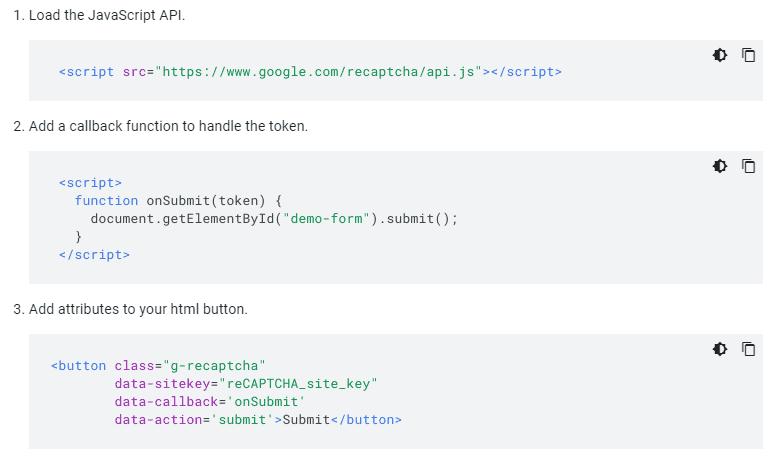 کد ریکپچا گوگل | فعالسازی کپچا به کمک گوگل