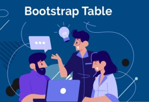 طراحی جداول در bootstrap 4