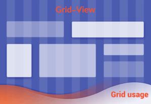 کار با Grid view