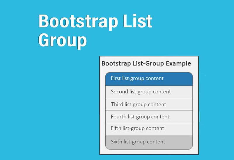 list group در بوتاسترپ