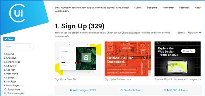 وب سایت برای ایده گرفتن در طراحی